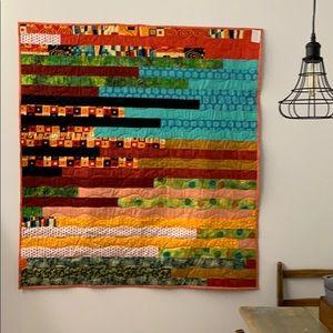 Throw patchwork quilt